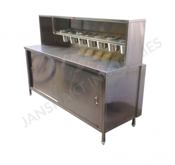 SS Fast Food Counter Back