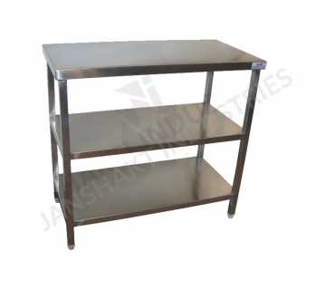 SS Side Tables With Under Shelves