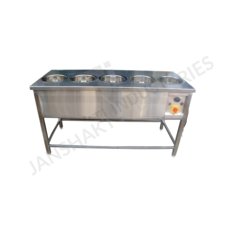 Janshakti industries bain marie with round containers for Cuisson four bain marie